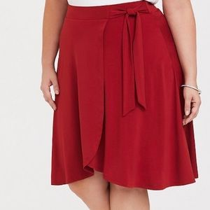 TORRID SCARLET RED STUDIO KNIT WRAP TULIP …